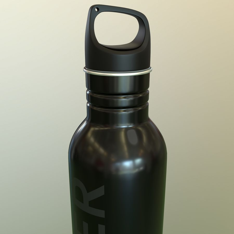 Metal Bottle Water royalty-free 3d model - Preview no. 2