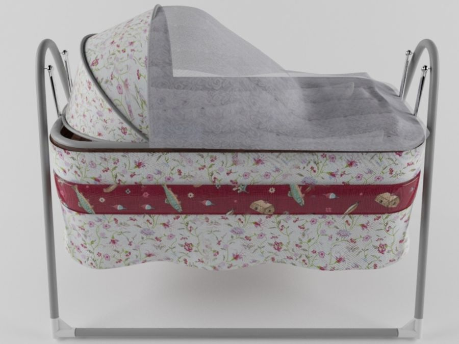 baby cradle royalty-free 3d model - Preview no. 1