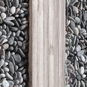 Wall Wood pebble decor n1 3d model