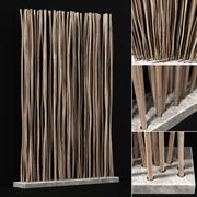 プランター基礎コンクリート太い枝n3 3d model