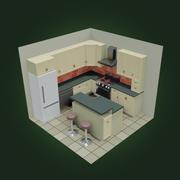 Cartoon Kitchen 3d model