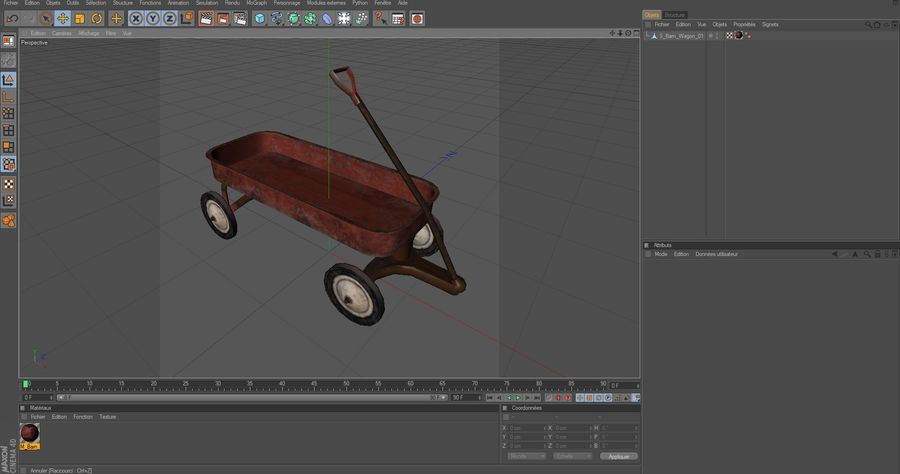 вагон royalty-free 3d model - Preview no. 14