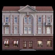 European Building facade 01 3d model