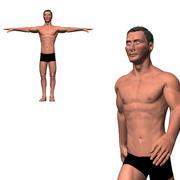 Готовый персонаж - анимированный человек 3d model