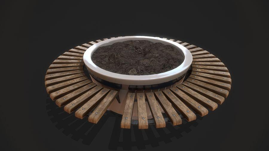 Pot de fleurs pour plantes royalty-free 3d model - Preview no. 5