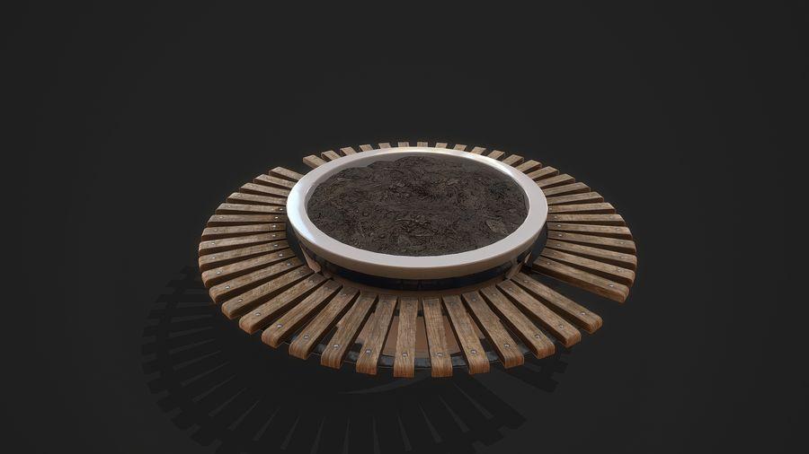 Pot de fleurs pour plantes royalty-free 3d model - Preview no. 3