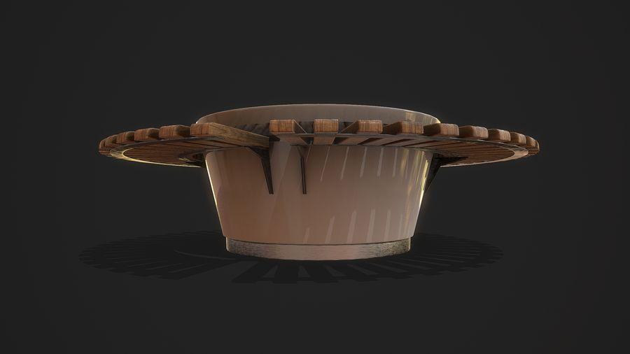 Pot de fleurs pour plantes royalty-free 3d model - Preview no. 4