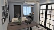 주거 공간-거실-식당 3d model