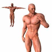 准备好游戏的角色动画人 3d model