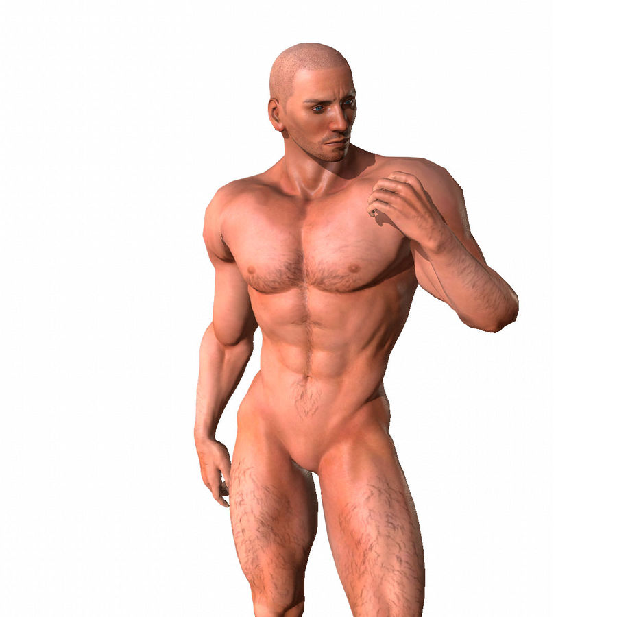 Game ready Character- Animated Man royalty-free 3d model - Preview no. 2
