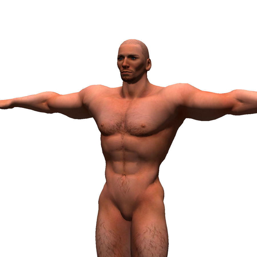 Game ready Character- Animated Man royalty-free 3d model - Preview no. 16