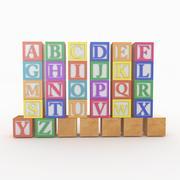 Alphabet Blocks 3d model