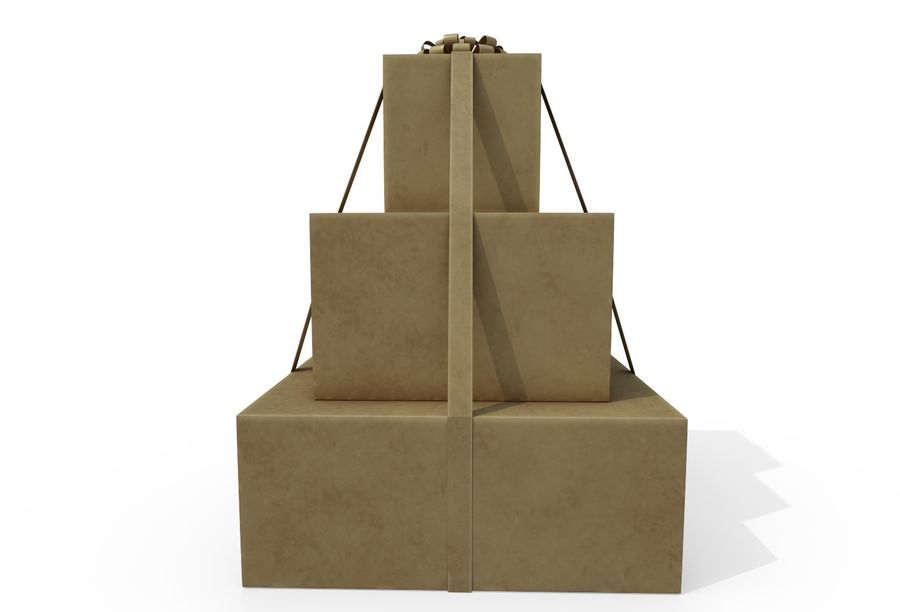 Gift Set royalty-free 3d model - Preview no. 7