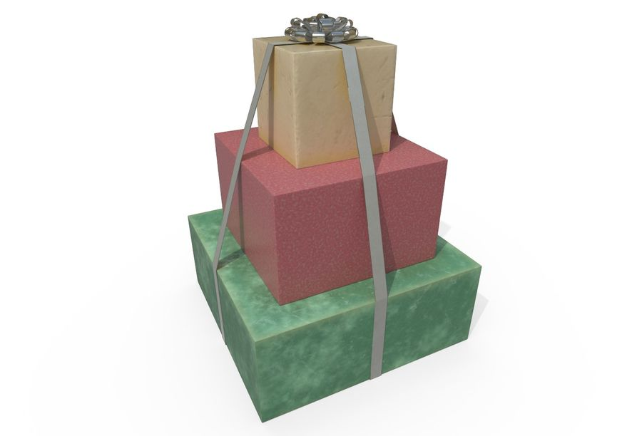 Gift Set royalty-free 3d model - Preview no. 4