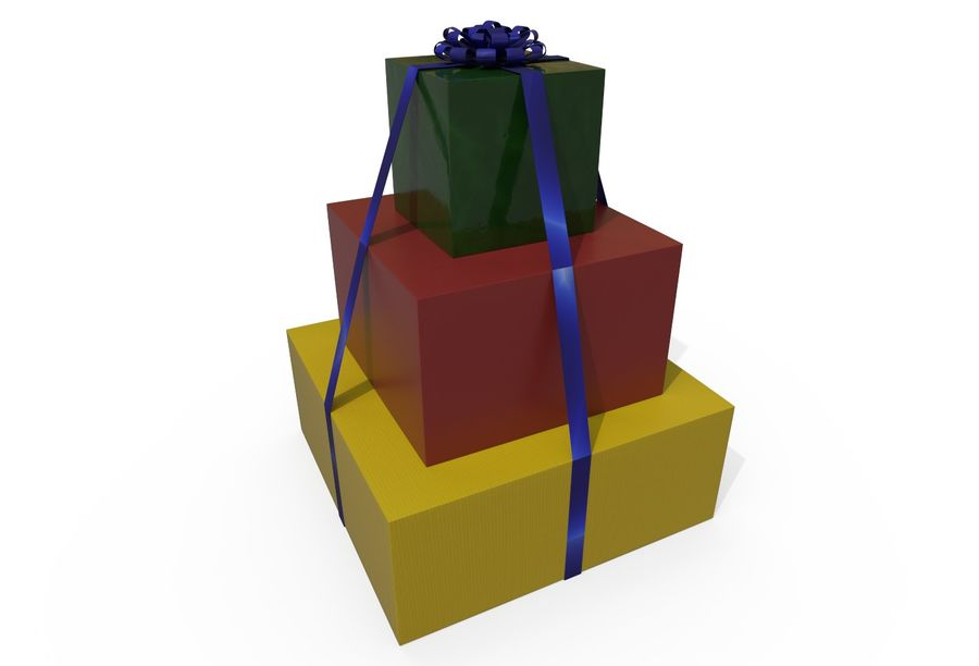 Gift Set royalty-free 3d model - Preview no. 1