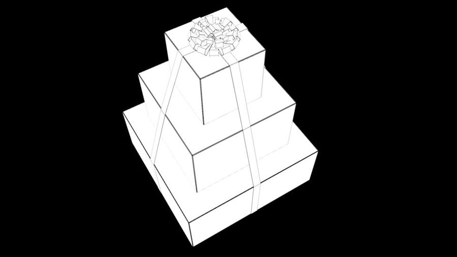 Gift Set royalty-free 3d model - Preview no. 14