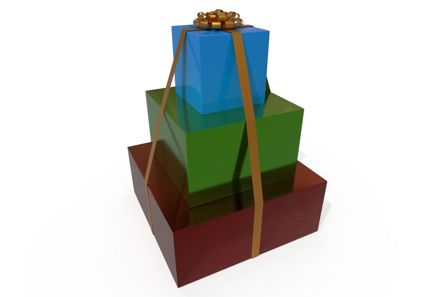 Gift Set royalty-free 3d model - Preview no. 2
