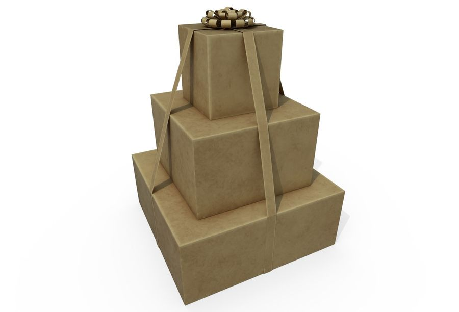 Gift Set royalty-free 3d model - Preview no. 5