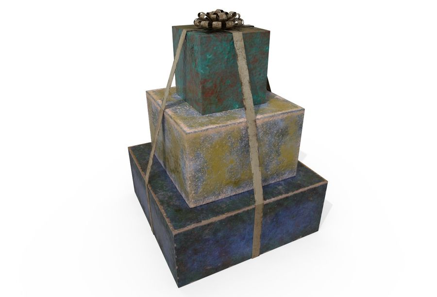 Gift Set royalty-free 3d model - Preview no. 3