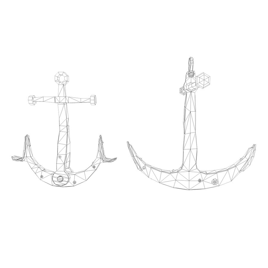 anchor royalty-free 3d model - Preview no. 1