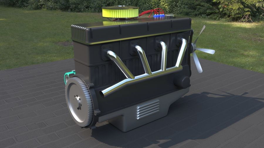 Motor royalty-free 3d model - Preview no. 4