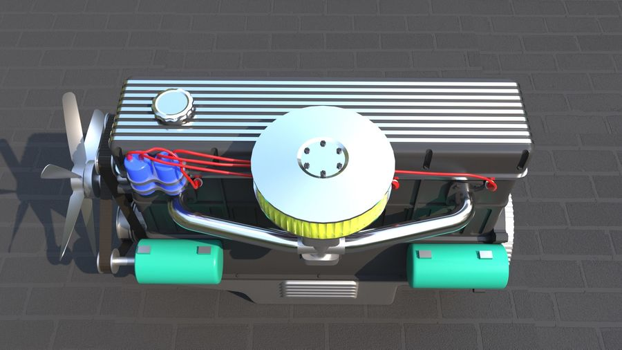 Motor royalty-free 3d model - Preview no. 6