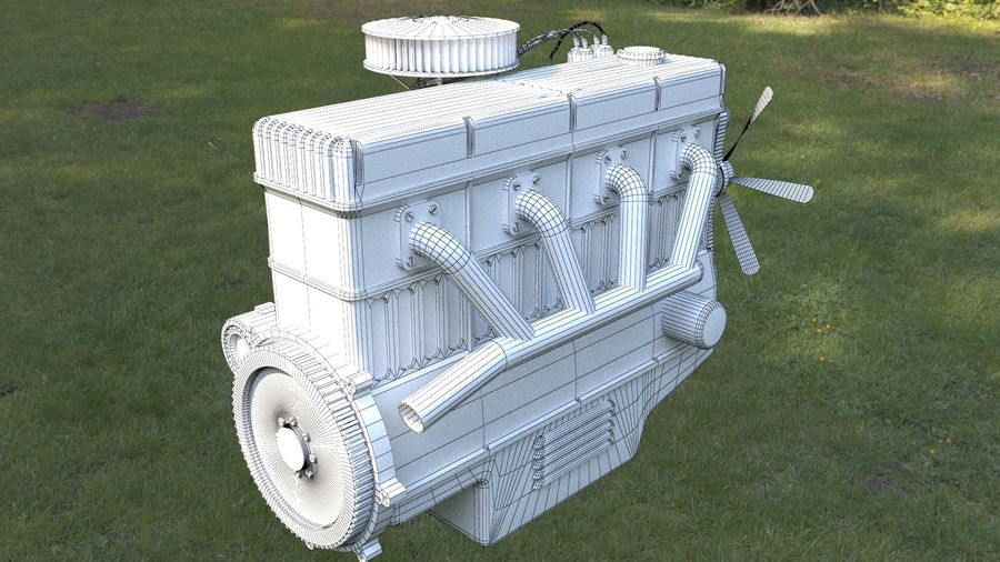 Motor royalty-free 3d model - Preview no. 9