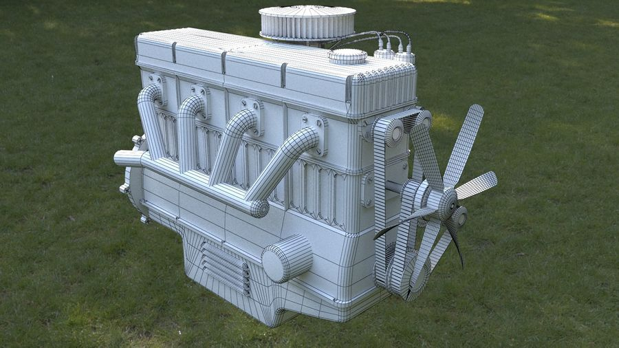 Motor royalty-free 3d model - Preview no. 10