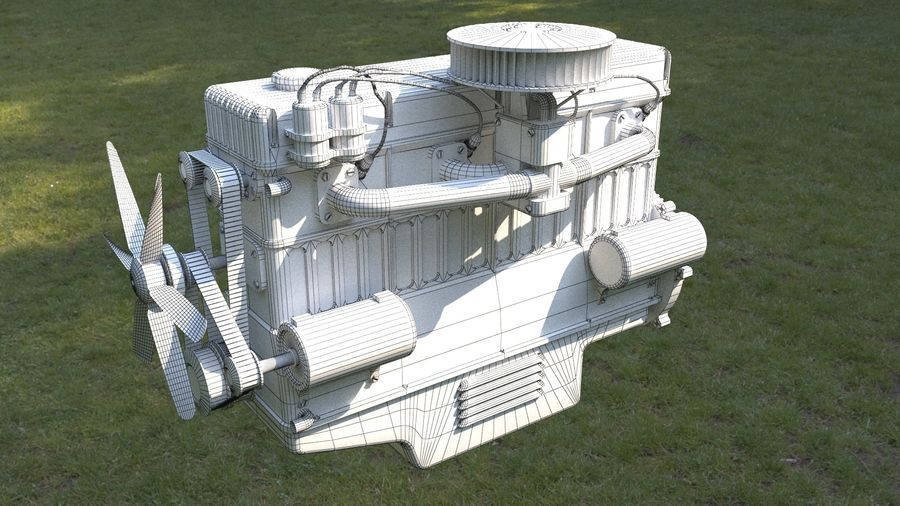 Motor royalty-free 3d model - Preview no. 7