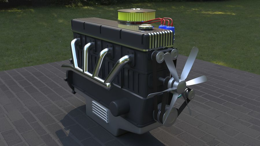 Motor royalty-free 3d model - Preview no. 5