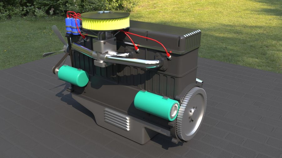 Motor royalty-free 3d model - Preview no. 3