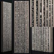 Pared de guijarros de madera decoración n3 modelo 3d