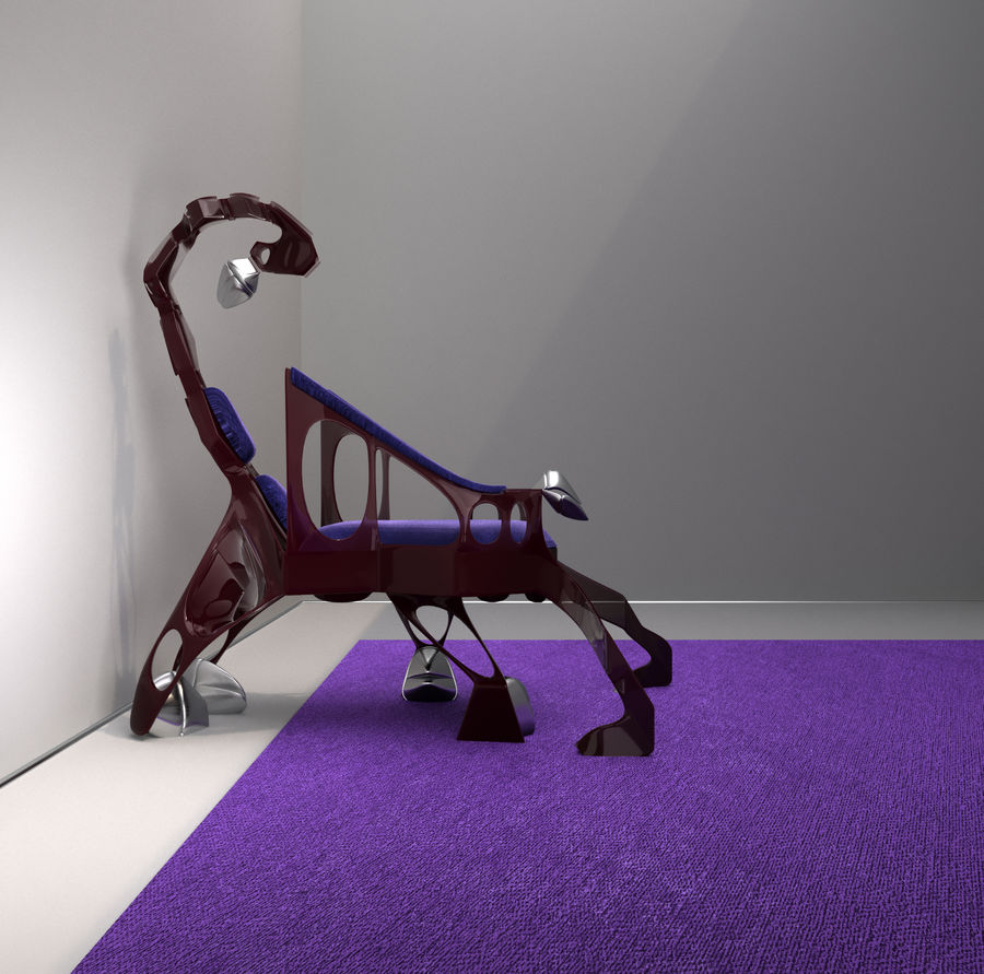 Armchair Scorpion royalty-free 3d model - Preview no. 3