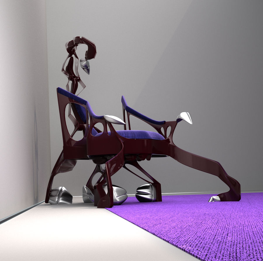 Armchair Scorpion royalty-free 3d model - Preview no. 4