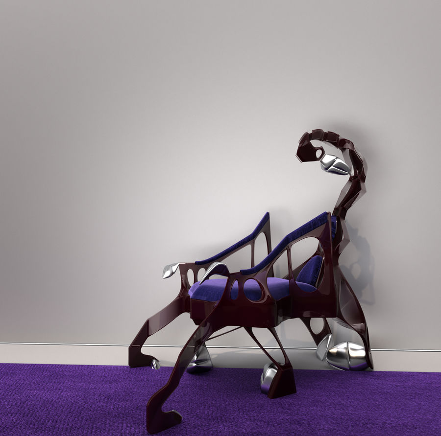 Armchair Scorpion royalty-free 3d model - Preview no. 2