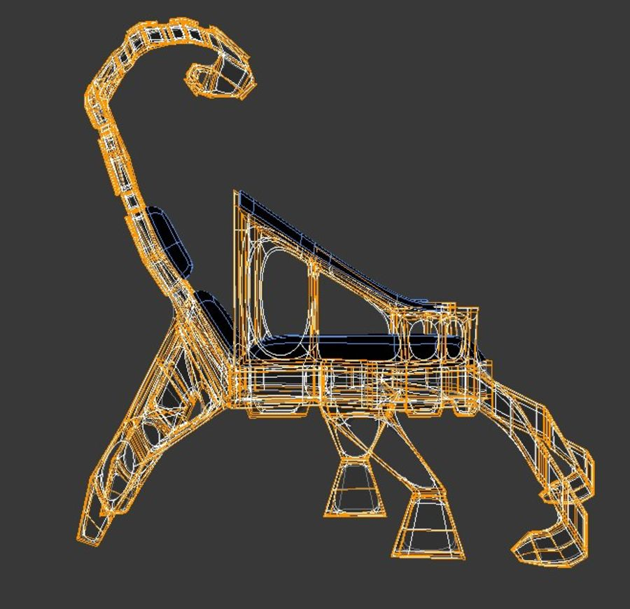 Armchair Scorpion royalty-free 3d model - Preview no. 10