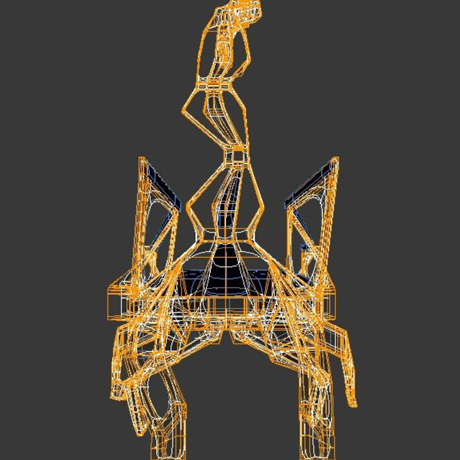 Armchair Scorpion royalty-free 3d model - Preview no. 12