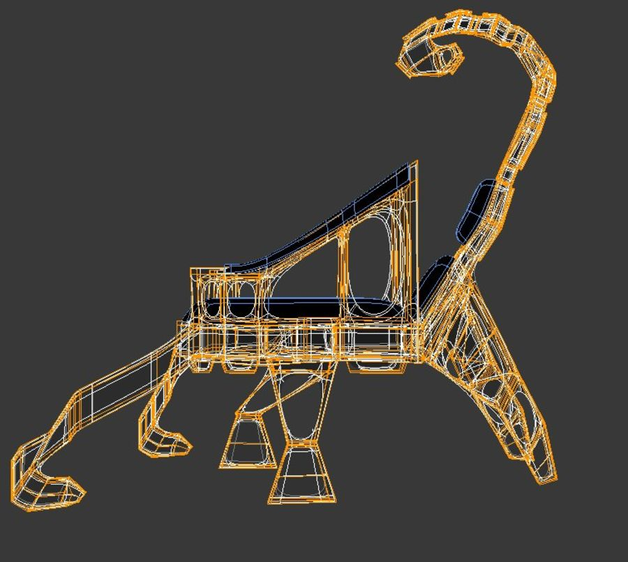 Armchair Scorpion royalty-free 3d model - Preview no. 6