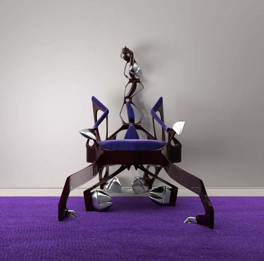 Armchair Scorpion royalty-free 3d model - Preview no. 1
