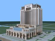 ウェスティンホテルビルディングの外観 3d model