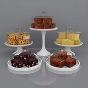Домовые и пирожные 3d model