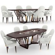 Vine stoel en tafel 3d model
