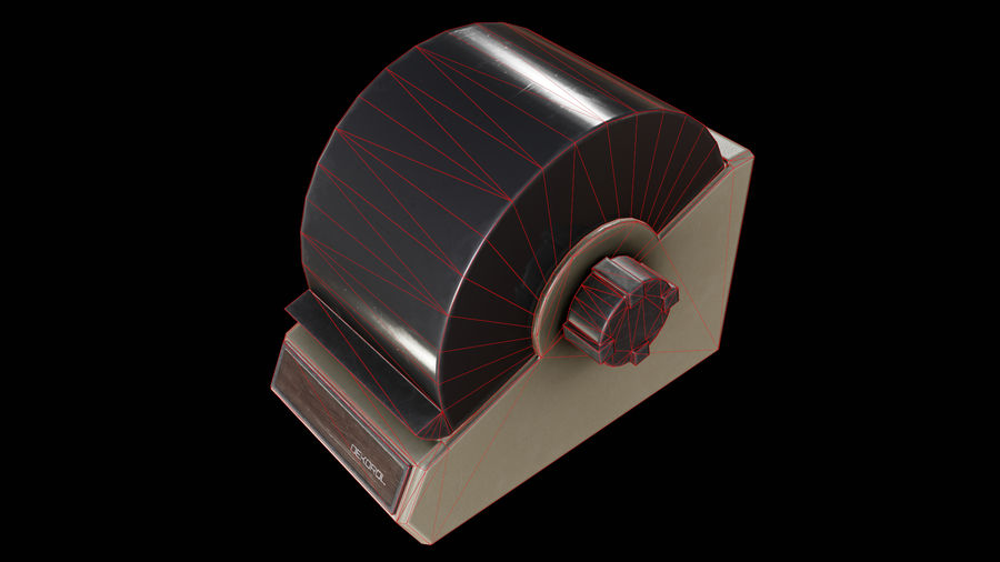 Rolodex - CLA - PBR Game Ready royalty-free 3d model - Preview no. 1