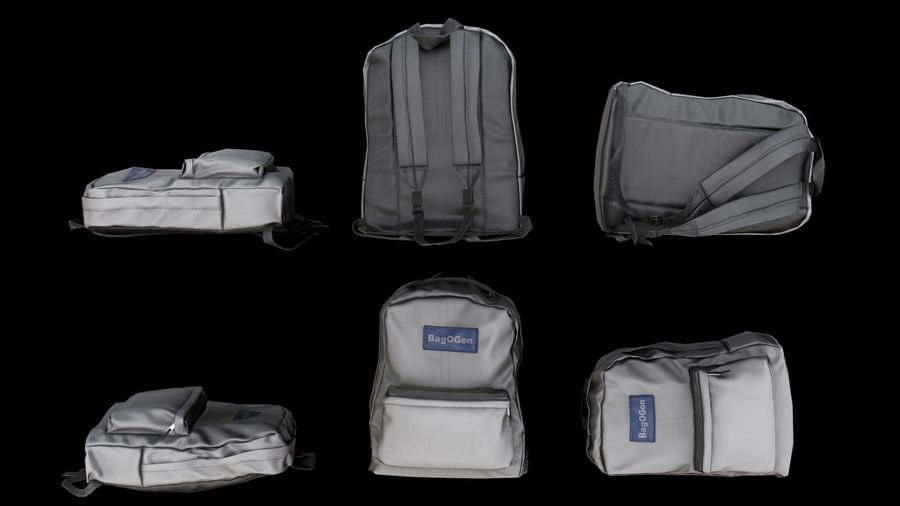 School Backpack - CLA - PBR Game Ready royalty-free 3d model - Preview no. 4