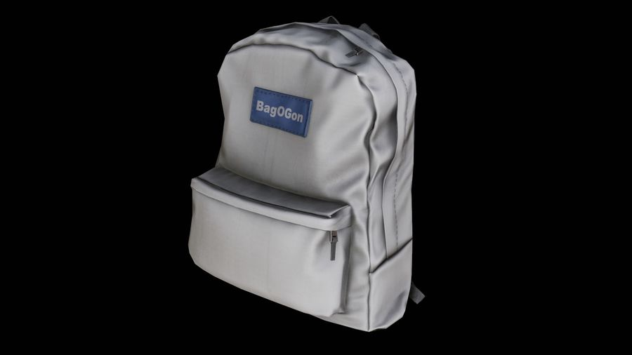 School Backpack - CLA - PBR Game Ready royalty-free 3d model - Preview no. 2