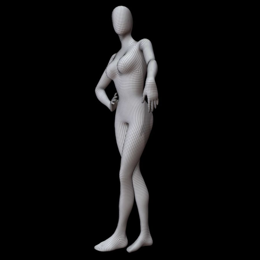 Манекен женский royalty-free 3d model - Preview no. 18