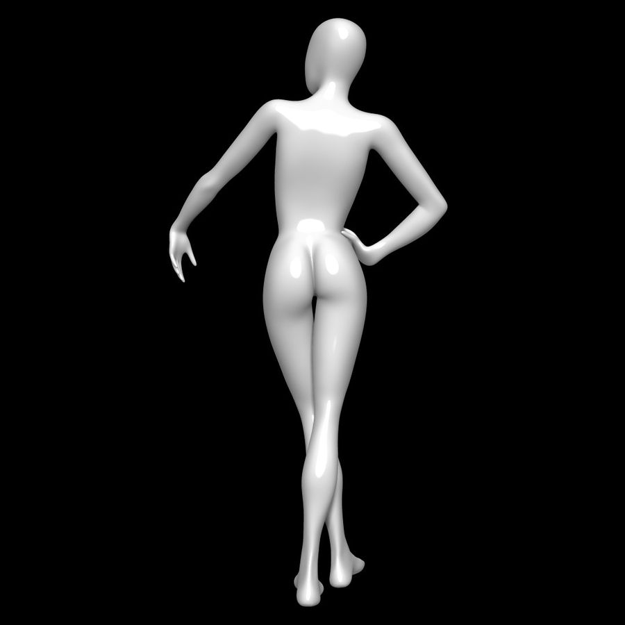 Манекен женский royalty-free 3d model - Preview no. 5