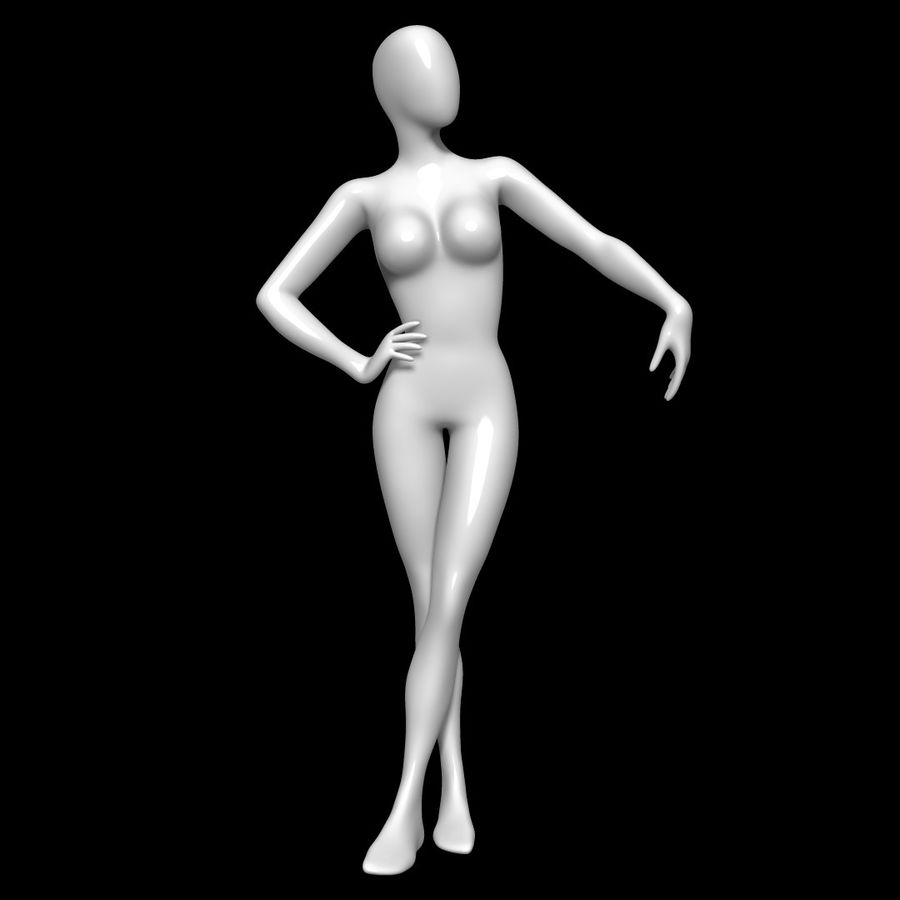 Манекен женский royalty-free 3d model - Preview no. 1
