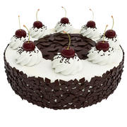 Cherry cake with chocolate 3d model