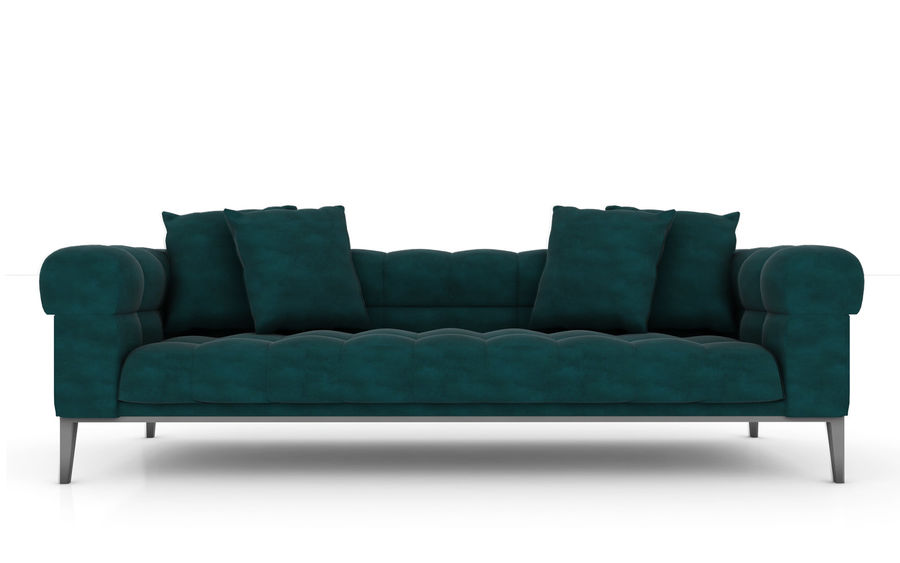 Sofa 02 - Studio Couch 3D model royalty-free 3d model - Preview no. 2